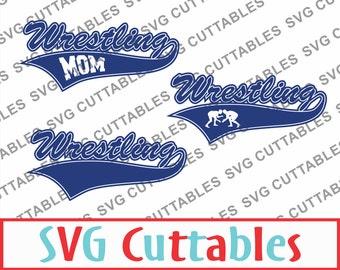 Wrestling svg, eps, dxf, Wrestling mom vector, Digital cut file