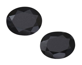 Black Tourmaline Oval Cut Set of 2 Loose Gemstones 1A Quality 11x9mm TGW 5.70 cts.