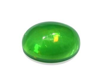 Ethiopian Welo Green Opal Oval Cabochon Loose Gemstone 1A Quality 7x5mm TGW 0.35 Cts.