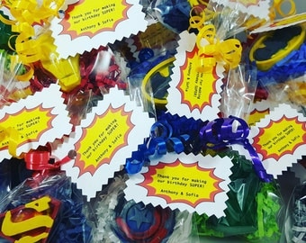 Single Superhero Crayon Favors/ Favors/ Birthday/