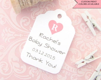 Baby shower tags (30) - Personalized baby shower tags - Baby shower thank you tags - Thank you baby shower tags