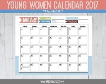 LDS Young Women's Calendar 2017 YW
