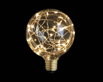 Sparkling Magic Globe Night Light Bulb - 220V - E27 - edison bulb - Gift and Premium - Wedding Decor - copper brass blue color