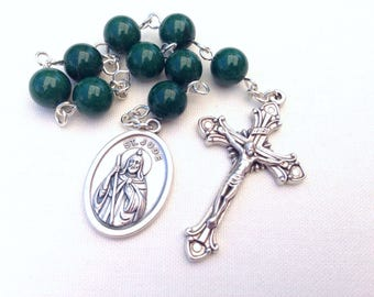 St Jude Chaplet, Patron Saint of desperate and hopeless situations, Prayer chaplet, Green chaplet, nine bead chaplet