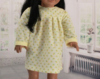 American Girl Doll Vintage Yellow Flannel Nightgown