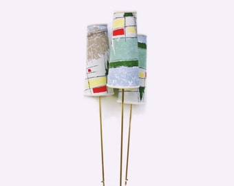 1950s Modern floor lamp Tripod colorful lampshades