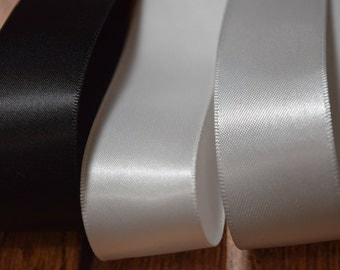 """Satin Ribbon By The Yard , 1 """" single face Satin Ribbon ,High Quality Ribbon ,DIY Bridal ribbon"""