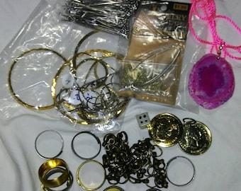 Grab bag destash jewelry supplies vintage and modern