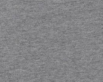 Dana Knit Heather Coal 300, Robert Kaufman Knit Fabrics, Charcoal Grey Knit Fabric, 55/45% Cotton/Rayon, Dark Grey, Apparel Fabric, D159-833