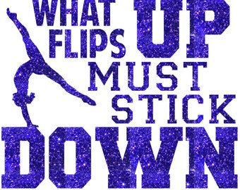 What Flips Up Gymnastics Iron On Decal