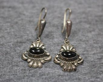 Sterling Silver, Vintage Gemstone Earring