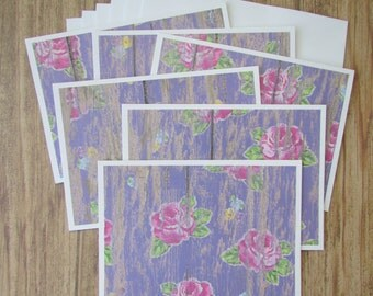 Note cards-set of 6,Blank card sets-Barnwood note cards,thank you cards,rustic stationery,Hostess/Teacher note cards,Handmade/Homemade cards