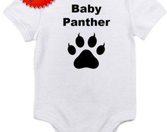 Baby panther bodysuit onesie you pick size newborn / 0-3 / 3-6 / 12 / 18 / 24 month
