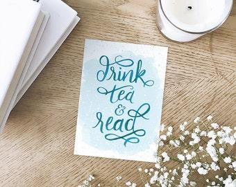 Drink Tea & Read Art Print