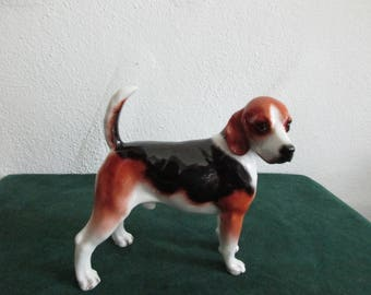 Boehm High Glaze Porcelain Figure of Beagle Hound Dog