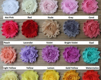 Shabby Flowers - Half Yard (7 Flowers) - All Colors