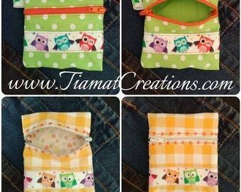 Wallet - OWL - yellow or green