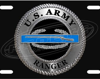 Army Ranger License Plate Tag