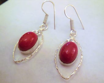 Earrings Vintage Dangle Drops Red Stone Jewelry Women's Fashion Accessories Casual Summer Style