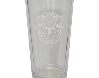 Special Forces Frosted Beer Glass