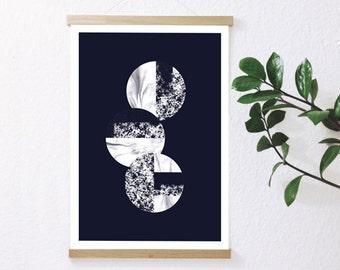 Printing CIRCLES II - blue