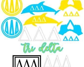 Delta Delta Delta Sorority Decal Pack