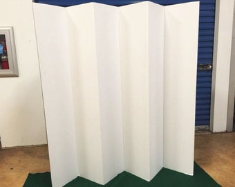 "Balcony or Patio Privacy Screen Room Divider Home Office  65"" Tall 6 Panel"