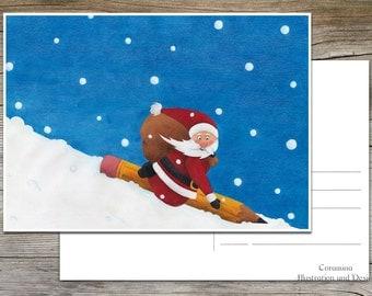 Postcard Christmas Santa