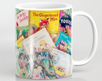 Little Golden Books Mug: vintage books, children's books, library, librarian, teacher, classic books, coffee, tea