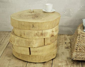 Great Tree Slabs Side Table Wooden Slices Side Table Table Tree Trunk Table On  Rolling Casters Natural