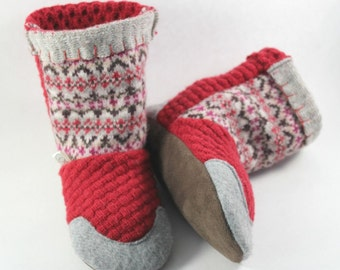Gift for Young Daughter- Little Girl Gift- Toddler Gift- Slipper Boots- Wool Slippers- Girls Slippers- Natural Gifts- Kids Cozy Gifts
