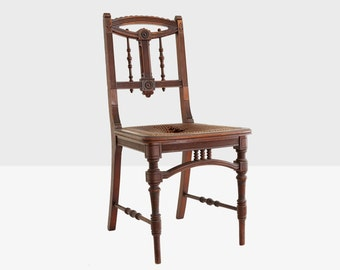 antique eastlake chair, victorian chair, antique cane chair, antique side chair, eastlake chair, east lake chair, victorian cane chair