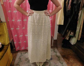 1950's  Rare Lilli Diamond skirt white lace
