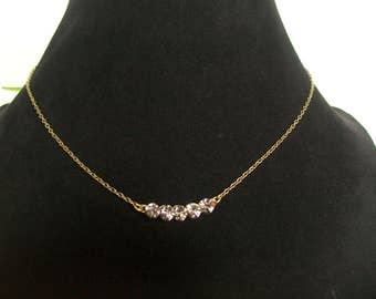 Necklace chain with Rhinestones Crystal
