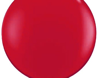"""36"""" balloon- Ruby Red"""