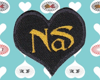 I Heart NAS Iron-On Patch