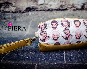 golden girls, wristlet, Sophia, blanche, rose, Dorothy, handmade, handbag