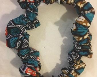 Chouchou taille XL tissu africain wax pour dreadlocks cheveux afri rasta ethnique original fantaisie