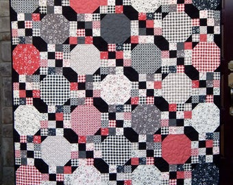 Square Dance, Quilt Pattern, PDF, Easy, Fat Quarter Friendly, Wall, Baby, Lap, Twin, Queen, King, BHQ0317017