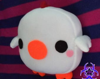 Kawaii Chibi Chicken pillow plush (your choice of color)
