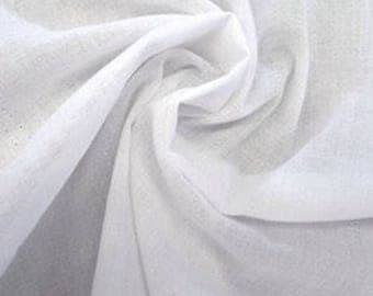 White Cotton Voile Fabric // Cotton Voile fabric by the yard