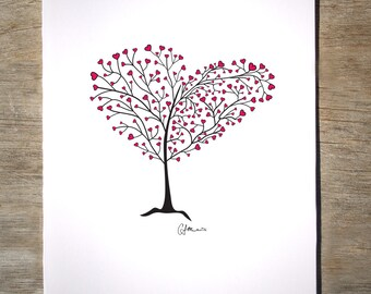Tree of Hearts - Love Card (#8V)