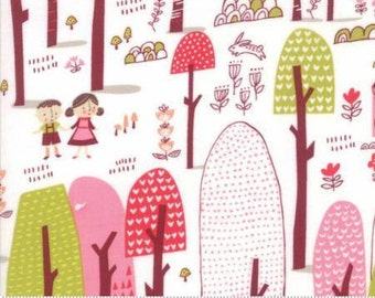 Walk in the Woods on Cream cotton fabric,  Just Another Walk in the Woods by Moda