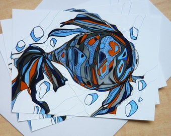 Waiting - Print of an Original Multimedia Work - Goldfish - 5x7 & 8x10