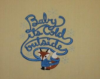 Baby ts cold outside Fox Towel