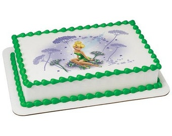 Tinkerbell Fairy Edible Cake or Cupcake Toppers - Choose Your Size