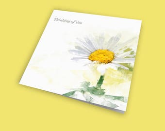 Thinking of You – The Daisy, Sympathy Card, Thoughts Are With You Card, Friendship Card, Sorry For Your Loss Card, From the Heart