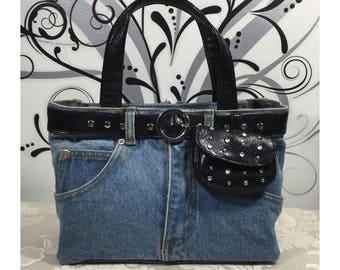 Blue jean purse, Cute handbag, Denim purse, Stylish handbag, Blue purse, Blue pocketbook, Women's handbag, Western pures