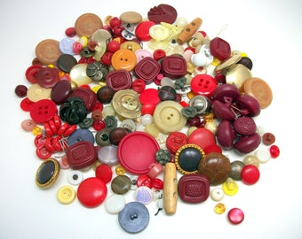 Mixed DESTASH Lot of Vintage Buttons - FREE SHIPPING
