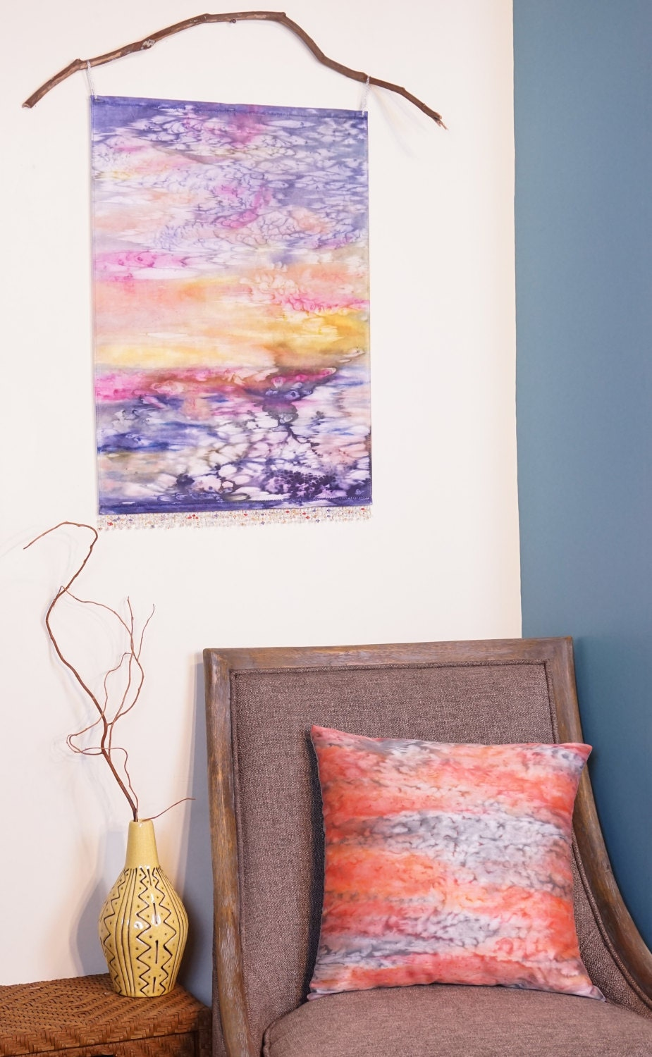 My newest Watercolor Silk Tapestry & Pillow